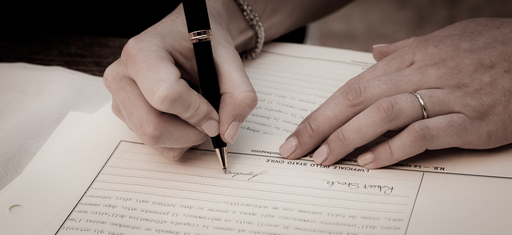 Australian wedding paperwork