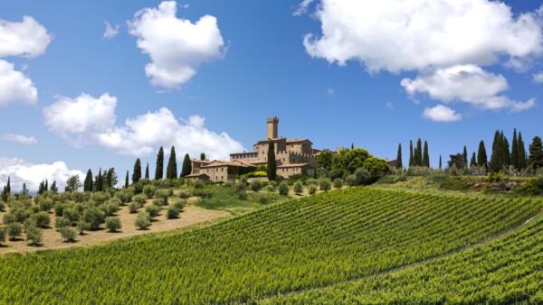Castello Banfi luxury wedding Tuscany